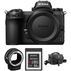 Nikon Z 6 Mirrorless Digital Camera with FTZ Mount Adapter and Bag Kit