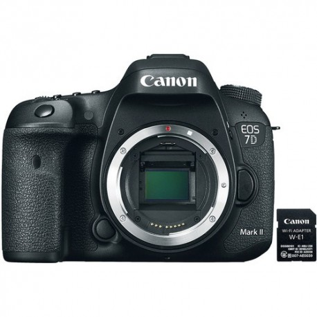 Canon EOS 7D Mark II with W-E1 Wi-Fi Adapter (Body Only)